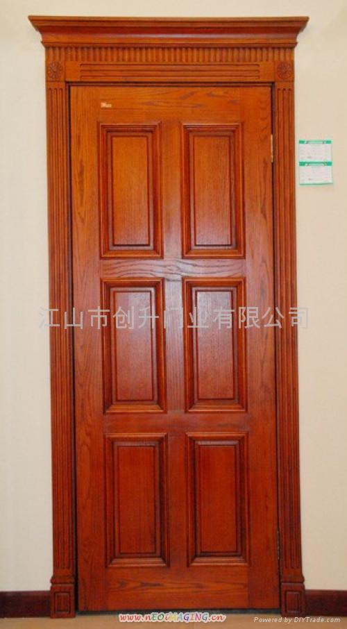 Oak Solid Wooden Door Cs 2 023 Chuangsheng China