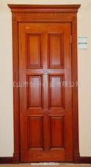 橡木原木烤漆門
