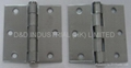 Steel door hinge with nickel finish