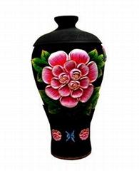 Active carbon vase