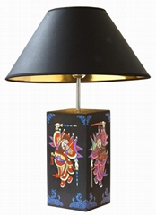 Active carbon table lamp