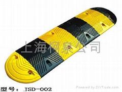 圆弧橡胶减速带、减速板、缓冲带、地条、地垄