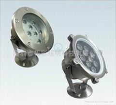 LED大功率七彩水下灯