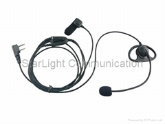 Two Way Radio Earphone D Shape with Boom Microphone and Finger PTT(GT-E015)