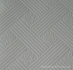 PVC Laminated Gypsum Ceiling Tile, Backing with Aluminum Foil