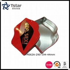 Irregular shape food packing tin box