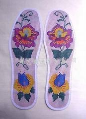十字繡鞋墊半成品(格子印花)