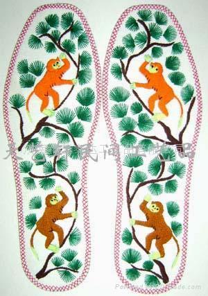 手工鞋垫--绣花鞋垫,十字绣鞋垫,割绒鞋垫