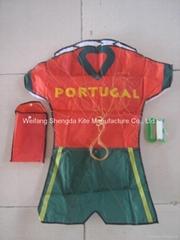 Football team cloth soft kites