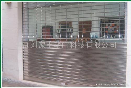 深圳不锈钢通花卷闸门 4