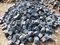 Black cobblestone paving stone