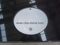 "Absolute black granite vanity top 61""x22""x2cm"