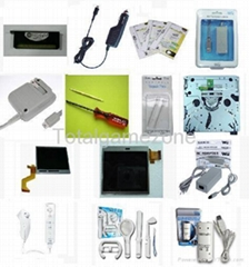 Nintendo NDSL, NDSi, Wii accessory LCD Top (bottom) Screen, Screen Protector, AC