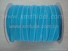 2014 new design blue color velvet ribbon