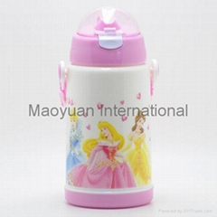 400ml Double Wall Children Plastic Thermo Water Bottle (Item No. 21019)