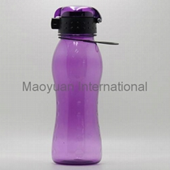 500ml Plastic Sports Water Bottle with Flip Open Drink Lid (Item No. 22004)