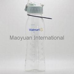 600ml Plastic Sports Water Bottle with Flip Open Lid (Item No. 22005)