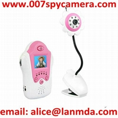 1.5 Inch Red Flower 2.4ghz Wireless Baby Monitor Night Vision LM-BM477