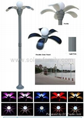 5W  Flexible Solar LED Landscape/Spot/Garden/Yard Lamp(7-color Gradual Change &