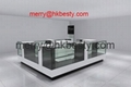 Famous brand glass jewelry kiosk showcases for retail store