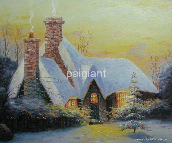 handmade Chrismas oil paintings 2
