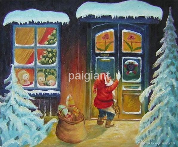 handmade Chrismas oil paintings 4