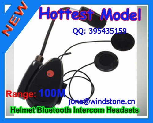 Motorcycle Helmet Bluetooth Headset, 100meters Range BT-9081 1