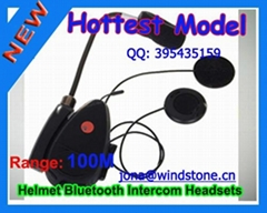 Motorcycle Helmet Bluetooth Headset, 100meters Range BT-9081