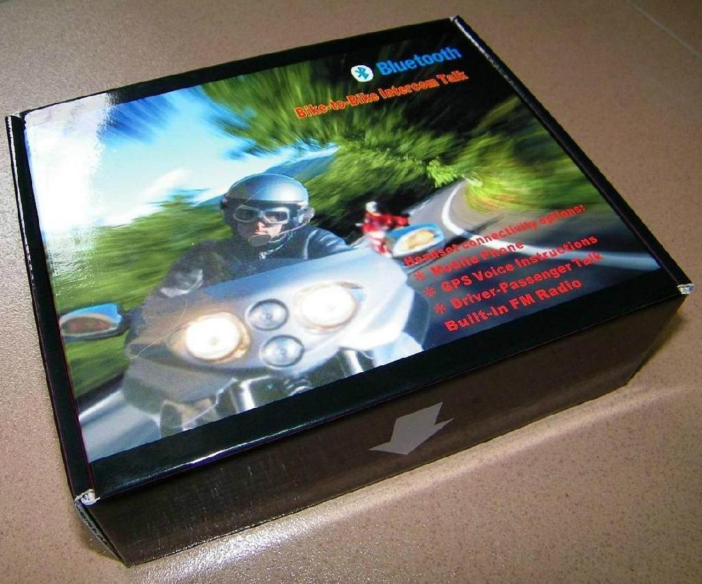 Motorcycle Helmet Bluetooth Headset, 100meters Range BT-9081 3