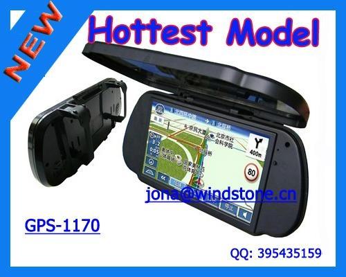 Car Rearview Mirror GPS Navigation System, Car mirror gps 1