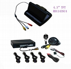 Car Reverse Camera System with 4.3inch Screen, Car Reversing Camera