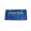 Iron chrome license plate frame