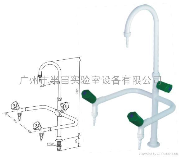 實驗室專用三口化驗水龍頭 1
