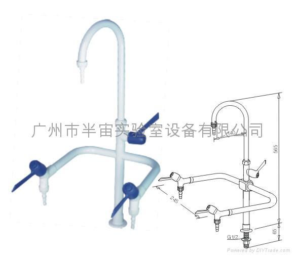 實驗室專用三口化驗水龍頭 2