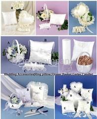 Wedding Accessories(Ring Pillow,Flower Basket,Garter)