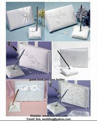 wedding guest book pen holder