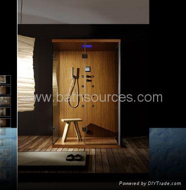 wooden steam shower room shower cabin shower cubicle house 2