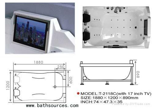 with TV massage bathtub jacuzzi surf whirlpool spa 2