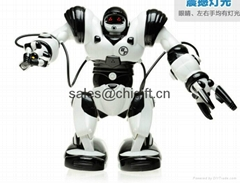 2013 NEW intelligent toy robot big scale infrared RC Robot with Light & Sound
