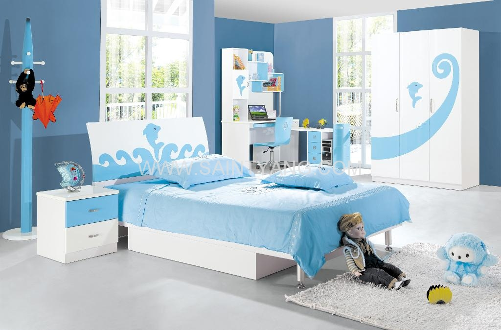 815 Kids Bedroom Set SY FS 815 SAINTYANG China Manufacturer. Kids Blue Bedroom Furniture