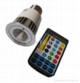 RGB LED light 5W with remote controller