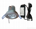 dimmable LED downlight 3X3W