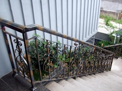 供應豪華鐵藝樓梯扶手