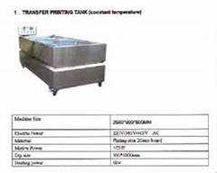 Water transfer printing tanks