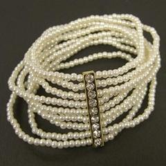 Multi rows pearl bracelet
