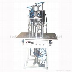 BS-8005 Semiautomatic 3 in 1 aerosol filling machine