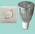 Dimmable led bulb lamp GU10 3*3W