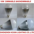 10W high power led globle bulbs