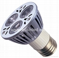 High power led spotlight E27 3x1W