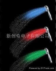 7color LED shower,LED發光花灑